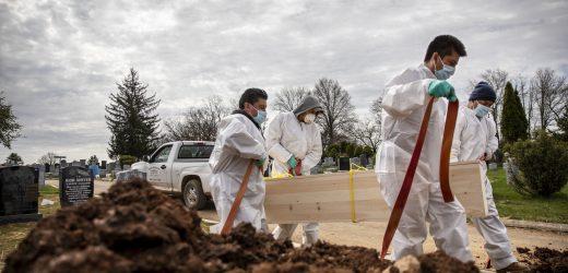 Friedhof Rennen zu halten, wie New York virus Todesfälle mount