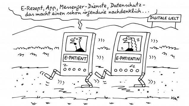 Ein satirischer Blick auf das E-Rezept